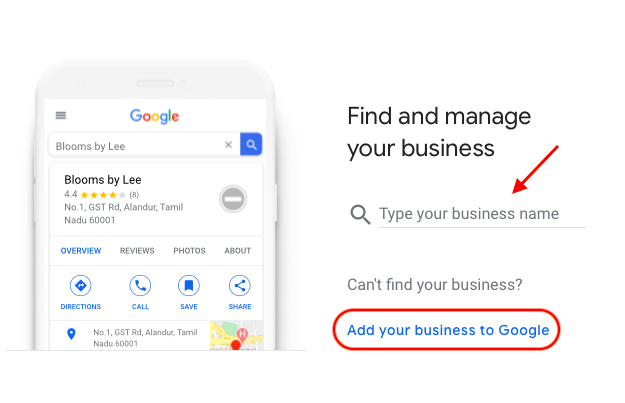 Add business to Google