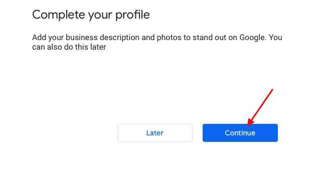 Add business description and photo