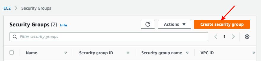 set up security group