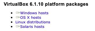 virtual box platform package