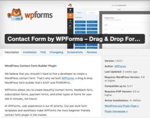 wpforms plugin details