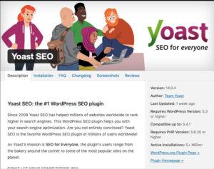 Yoast SEO plugin details